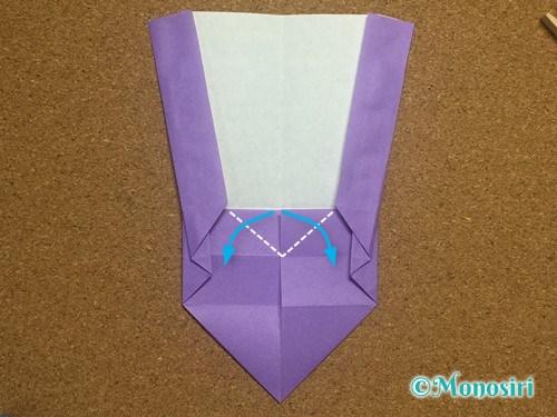 折り紙でアルファベットのWの折り方17