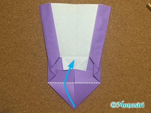 折り紙でアルファベットのWの折り方19