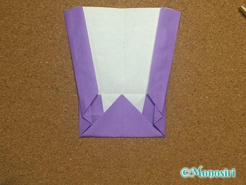 折り紙でアルファベットのWの折り方20