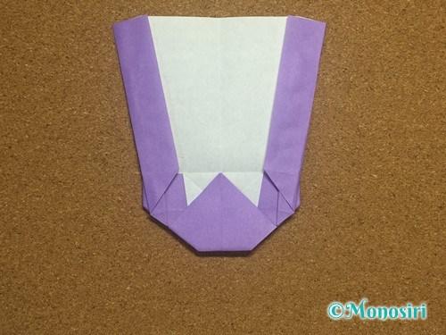 折り紙でアルファベットのWの折り方22
