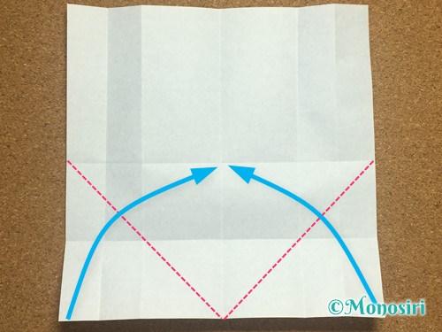 折り紙でアルファベットのWの折り方9