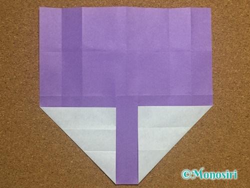 折り紙でアルファベットのYの折り方12