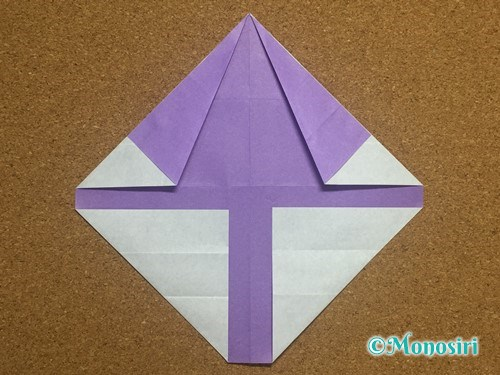 折り紙でアルファベットのYの折り方16