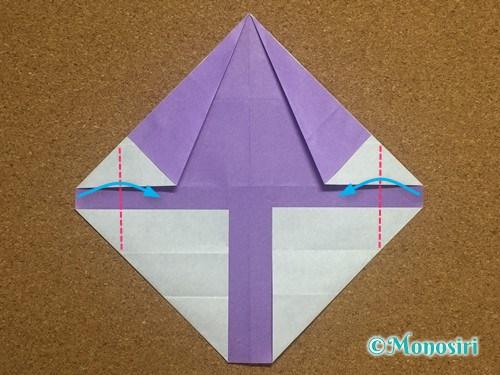折り紙でアルファベットのYの折り方17
