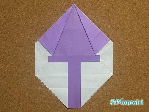折り紙でアルファベットのYの折り方18
