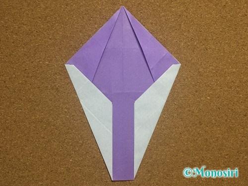 折り紙でアルファベットのYの折り方20