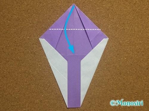 折り紙でアルファベットのYの折り方21