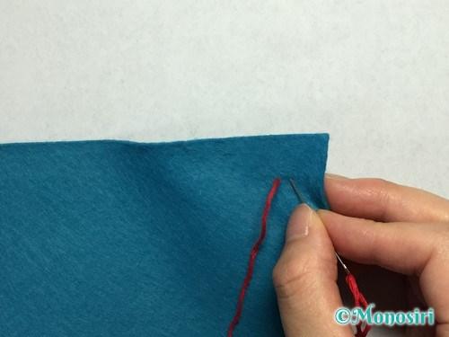 バックステッチの縫い方2
