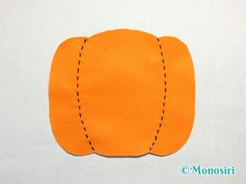 ハロウィンのかぼちゃバッグの作り方8