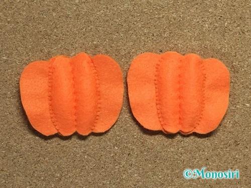 フェルトでハロウィン飾りのハロウィンかぼちゃの作り方10