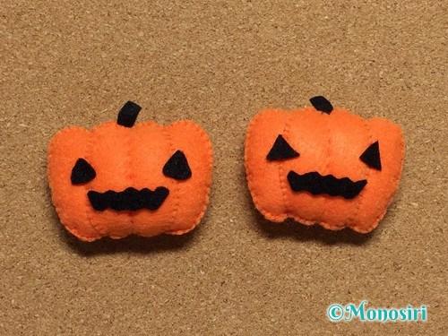 フェルトで作ったハロウィンかぼちゃのハロウィン飾り