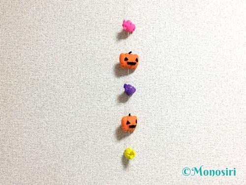 フェルトで作ったハロウィンのつるし飾り
