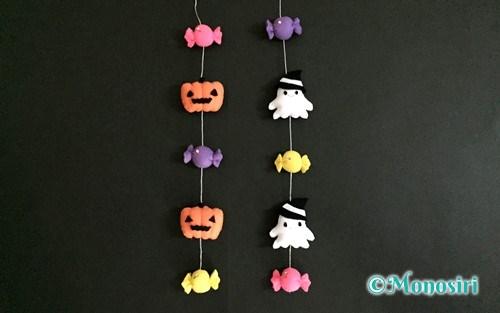 フェルトで作ったハロウィンの吊るし飾り