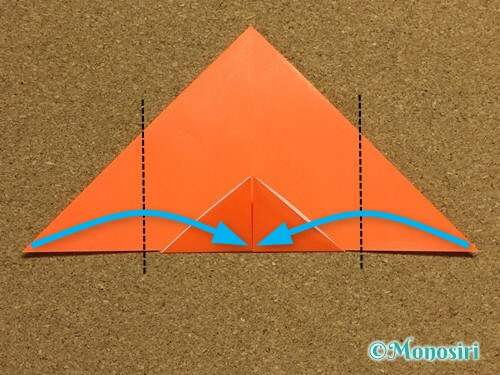 折り紙でかぼちゃの作り方13