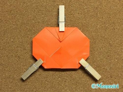 折り紙でかぼちゃの作り方16