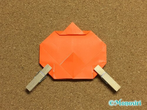 折り紙でかぼちゃの作り方18