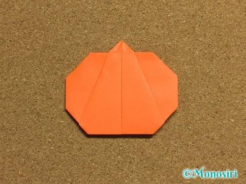 折り紙でかぼちゃの作り方19
