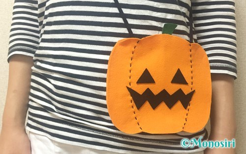 ハロウィンのかぼちゃバッグ