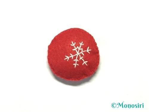 フェルトでグラスボール飾りの作り方8