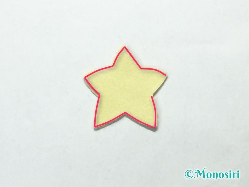 フェルトで星飾りの作り方4