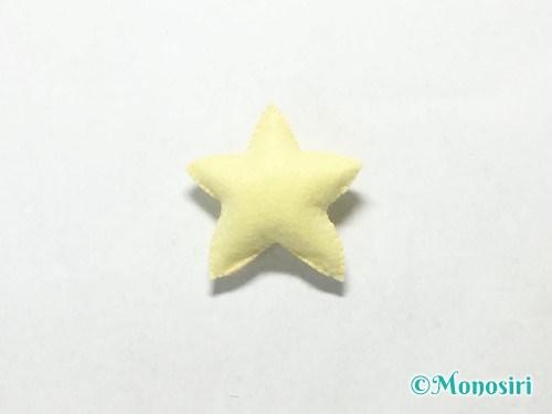 フェルトで星飾りの作り方7