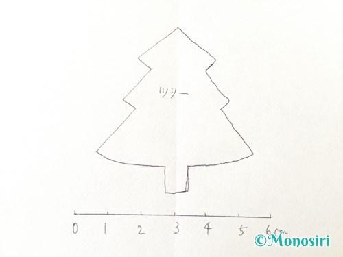 フェルトでクリスマスツリー飾りの作り方1