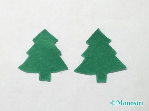 フェルトでクリスマスツリー飾りの作り方3
