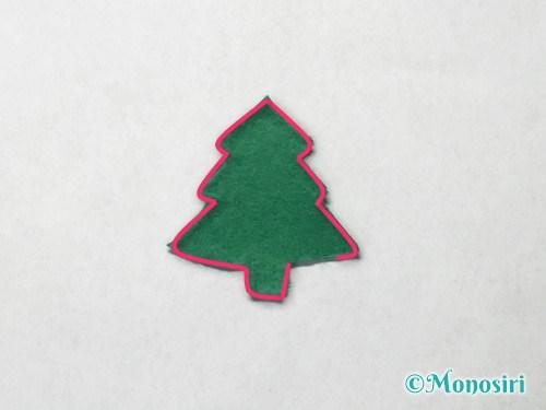 フェルトでクリスマスツリー飾りの作り方4
