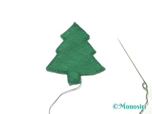 フェルトでクリスマスツリー飾りの作り方5