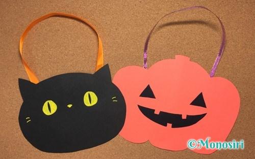 ハロウィンの画用紙バッグ