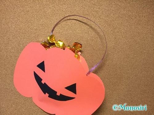 ハロウィンの画用紙バッグの作り方10