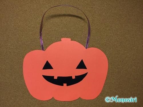 ハロウィンの画用紙バッグの作り方8
