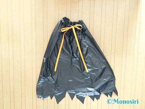 ゴミ袋ハロウィンマントのアレンジ方法8
