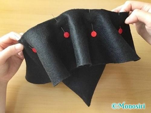 ハロウィンの魔女の帽子の作り方10