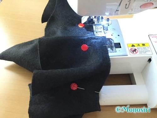ハロウィンの魔女の帽子の作り方11