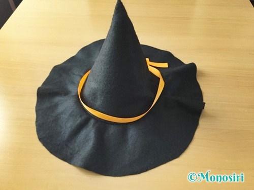 ハロウィンの魔女の帽子の作り方13