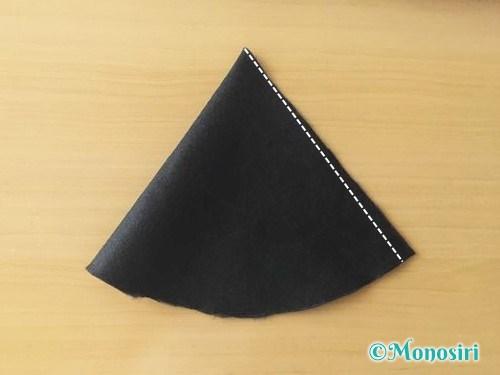 ハロウィンの魔女の帽子の作り方5