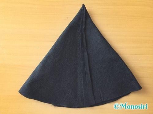 ハロウィンの魔女の帽子の作り方8