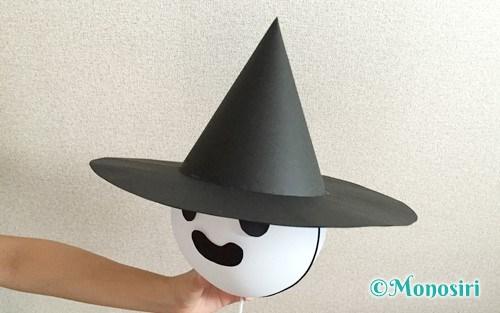 画用紙で作った魔女の帽子