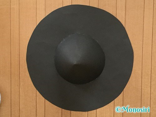 画用紙で魔女の帽子の作り方10