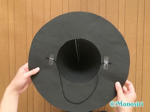 画用紙で魔女の帽子の作り方13