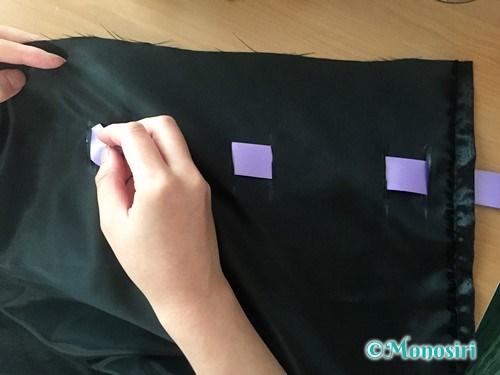 ハロウィン仮装のマントの作り方8