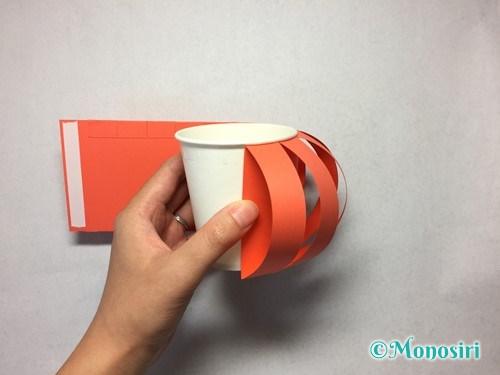 かぼちゃのお菓子入れ(帽子付き)の作り方11