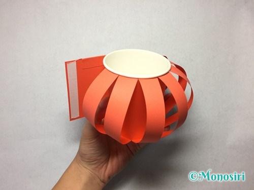 かぼちゃのお菓子入れ(帽子付き)の作り方12