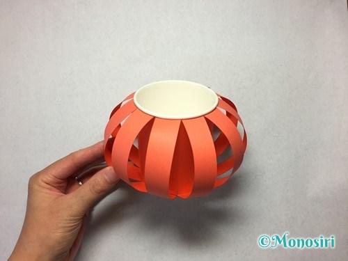 かぼちゃのお菓子入れ(帽子付き)の作り方14