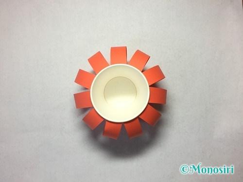 かぼちゃのお菓子入れ(帽子付き)の作り方15