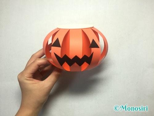 かぼちゃのお菓子入れ(帽子付き)の作り方17
