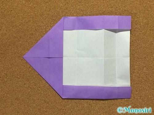折り紙でアルファベットのCの折り方14