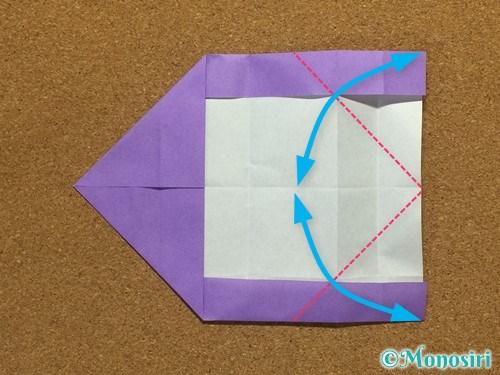 折り紙でアルファベットのCの折り方15