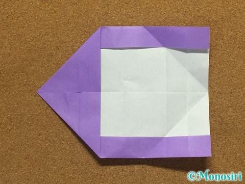 折り紙でアルファベットのCの折り方16
